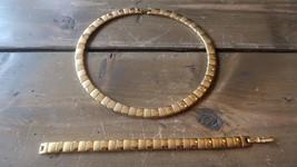 Vintage Gold Tone Necklace and Bracelet Set - $19.79