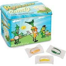 Vegetable Candy in Collectible Tin! Green Bean, Carrot and Corn Flavors!... - $2.69