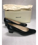 Bally low heel pumps shoes designer leather size 6 1/2 E black never wor... - $84.14