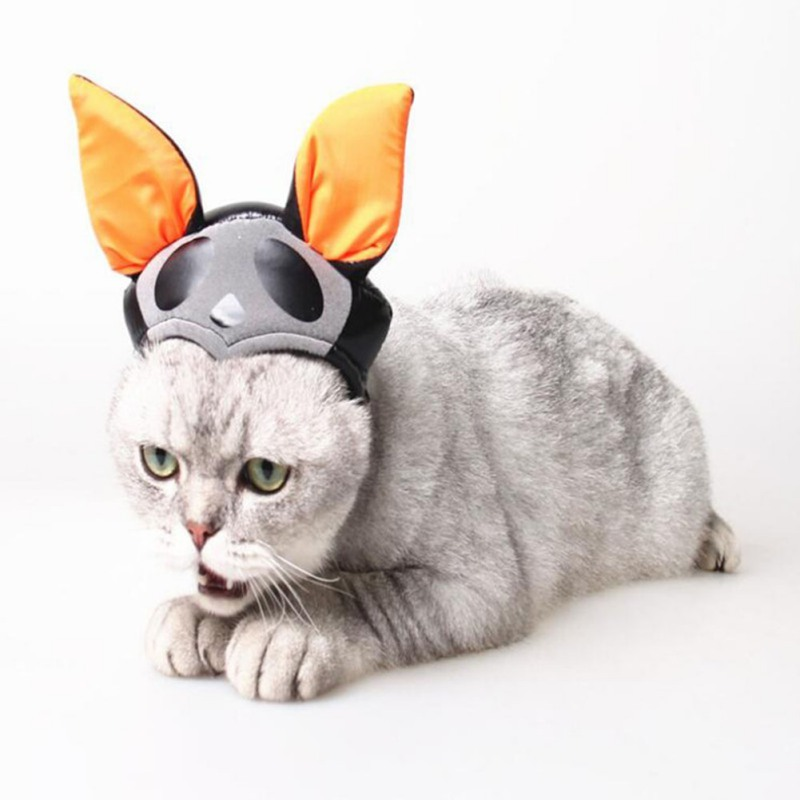 Cute cat witch costume caps halloween pet hat magic hat pet dog party decor accessories for