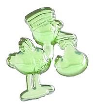 Stork w/Baby Acrylic Charm -Apple Green - $9.85