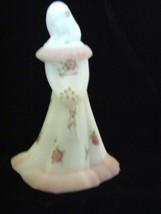 Fenton Art Glass White Satin Bridesmaid Doll Figurine Exclusively B&B Shop - $154.79