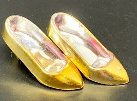 Vintage Jem and the Holograms METALLIC Gold Shoes ONLY THE BEGINNING 198... - $18.04