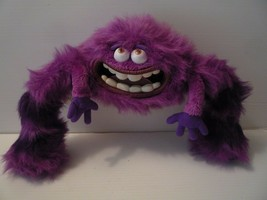 "Disney Monsters University Art Plush 12"" Purple stripped Big Teeth - $14.85"
