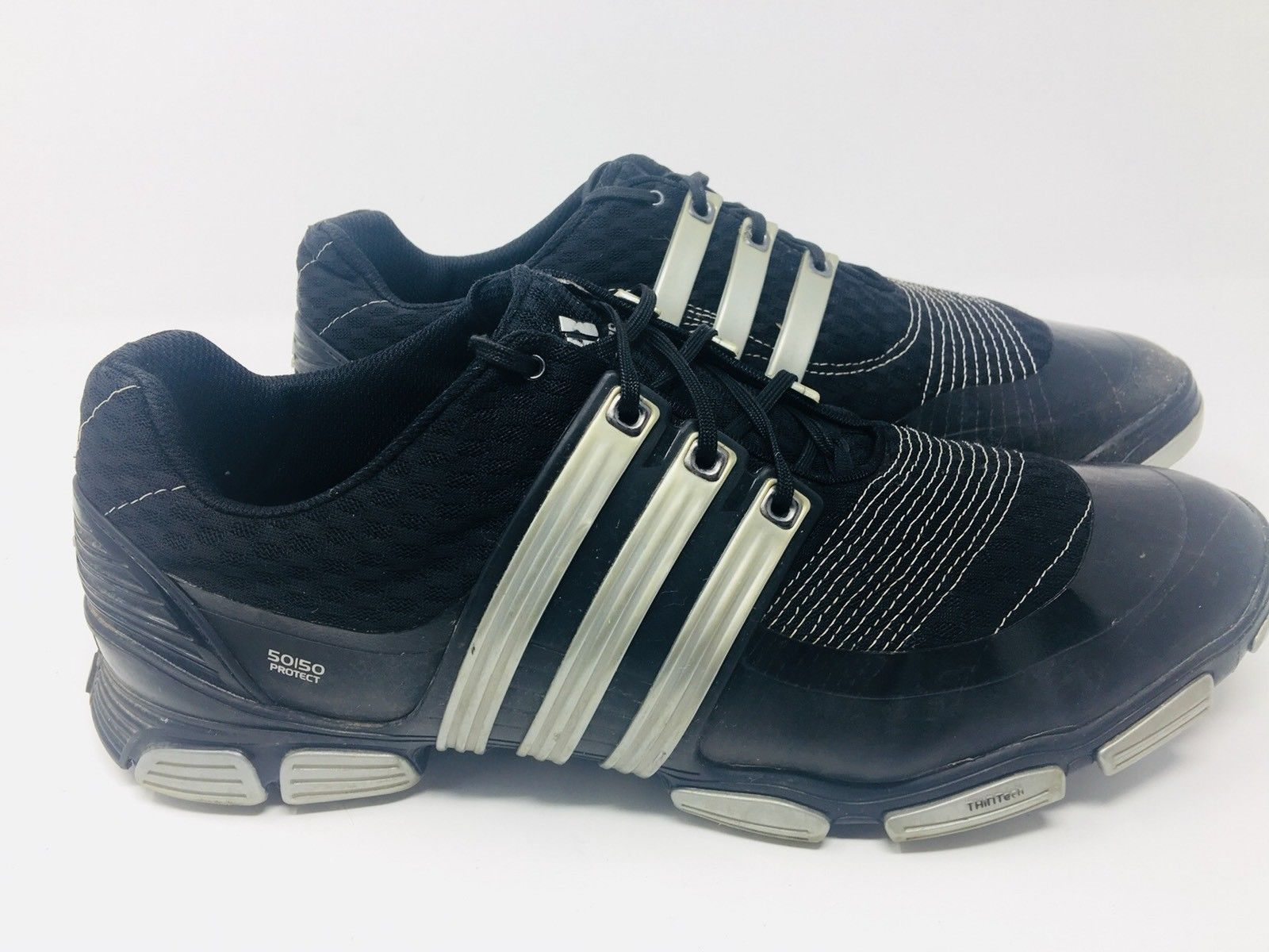 new style d0cd3 b3180 S l1600. S l1600. Adidas Tour 360 4.0 Black Leather Lace Up Golf Shoes Cleats  Men s Size 12 M ...