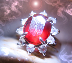 Haunted ring SOLOMON WHITE LIGHT NOOR FEMALE DJINN Genie VESSEL MAGICK Cassia4 - $99.89