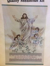 Janlynn Counted Cross Stitch Kit The Ascension of Jesus Mark 16:19 Bible Verse - $14.28