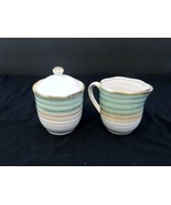 JC Penney Studio by Home Collection Chromatics Sage Sugar Bowl w/Lid and... - $12.86
