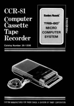 TRS-80 CCR-81 CCR-82 Operation Manuals * PDF * CDROM - $7.99