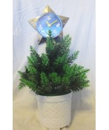 Vintage Star Time Lighted Dancing Christmas Tree With Star Clock - $39.59