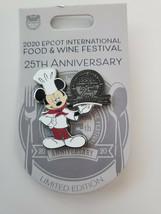 Disney Epcot Food And Wine 25th Anniversary Chef Mickey Pin LE 3500 New - $24.70