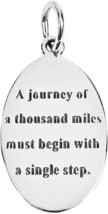 AeraVida Inspirational Lao Tzu Journey Quote .925 Sterling Silver Pendant - $86.62