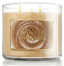 Bath & Body Works Salted Caramel 3 Wick Scented Candle 14.5 Oz