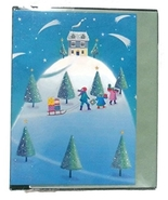 18 Glitter Winter Holiday Christmas Greeting Cards - $27.99