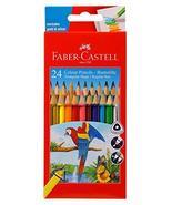 Faber Castell 24 Tri-colour Pencil Set Best Grip Includes Silver & Gold - $9.90