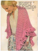 Shawls & Ponchos to Crochet Knit and Hairpin La... - $4.50