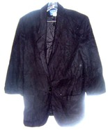 Best American Clothing Co. Black Wool Blend Blazer Jacket One Button Bla... - $23.74