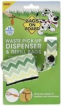 Bags on Board Dispenser and Poop Bag Refills Chevron Print 14 ct Green - $7.99
