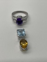 Beautiful Vintage 925 DOL Interchangeable 3 Stone Ring - €62,27 EUR