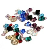 44pc Swarovski Crystal Lot Asst Sizes and Colors - See Photos for Detail... - $12.62