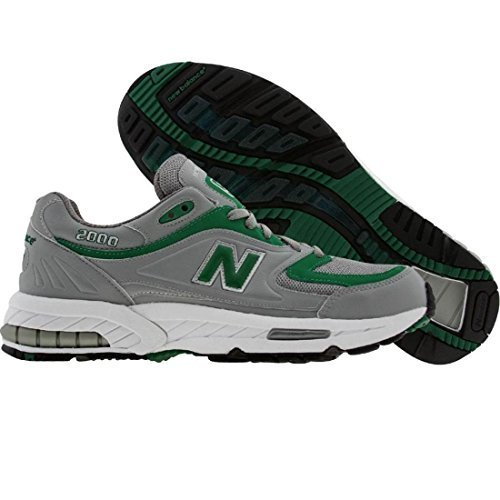 New Balance Men's M2000 Sneaker,Grey/Green,9.5 D US