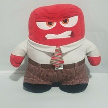 Disney Store Inside Out Plush Anger Stuffed Doll 9'' Red Toy Tie Busines... - $17.45