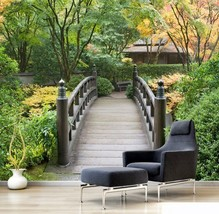 3D Holzbrücke , Schönheit 3 Fototapeten Wandbild Fototapete BildTapete Familie - $52.21+