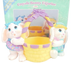 Hallmark Crayola Bunny Candy Cottontail Figurine Rabbit Easter Basket Vi... - $6.95