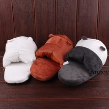 We Bare Bears Cartoon Bear Grizzly Panda Ice Bear Adult Plush Slippers Winter In image 6