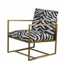 Retro Style Zebra Print Iron Accent Chair,25.5''H - $642.51