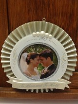 Hallmark Keepsake Ornament Our Wedding Photo Holder To Have and Hold NOS... - $15.83