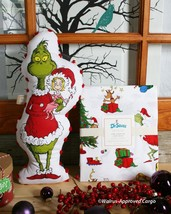 Pottery Barn Grinch & Max Twin Duvet Cover & Grinch Pom Pom Pillow - Nwt - $149.95
