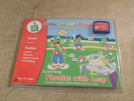 LeapFrog Imagination Desk Learning Phonics with Leap Game Cartridge Factory Seal - $9.89