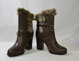 NIB Frye Penny Luxe Moto Leather & Real Fur Boots Women's Size 9.5M in D... - $319.00