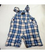 Oshkosh Vestbak Overalls Size 24 Months Toddler Boy Clothing Plaid Shorts  - $24.19