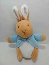 Peter Rabbit plush rattle Frederick Warne & Co. Eden baby toy bunny small - $11.57