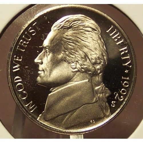 Primary image for 1992-S DCAM Proof Jefferson Nickel #0685