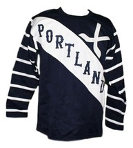 Portland rosebuds retro hockey jersey 1915 navy blue   1 thumb200