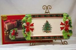 """Spode 2019 Christmas Tree Tartan Serving Tray 12"""" NIB - $57.58"""