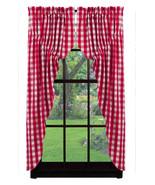 Picnic Red Prairie Curtain Set - $59.99
