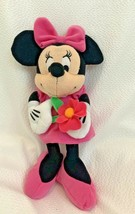 "Small Disney Minnie Mouse Holding Flower 10""Plush Just Play  - $9.49"
