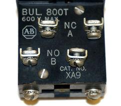ALLEN BRADLEY 800T-H2 SELECTOR SWITCH W/ 800T-XA9, 800T-XA CONTACT BLOCKS image 4