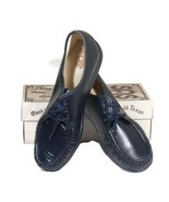 SAS Siesta Navy Blue Leather Lace Up Loafer Comfort Shoes Size 11 1/2 WW... - $59.39
