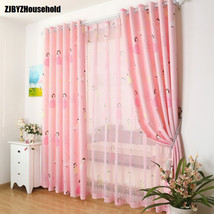 Cute cartoon custom green shading cloth curtains for living room windows... - $19.92+