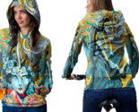 Psychedelic face geisha trippy tongue dmt hoodie women thumb155 crop