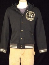 POLO RALPH LAUREN MEN'S HOODED BASEBALL JACKET BLACK CITY CHAMPS SZ L NW... - $109.77