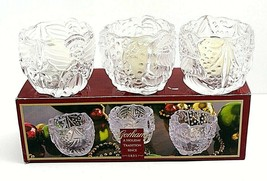 Gorham Holiday Traditions Set Of 3 Votive Crystal Candle Holder Made in ... - $39.58