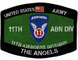 Us Army 11TH Airborne Division Mos The Angels Embroidered Patch - $17.09