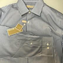 Michael Kors Men Shirt Long Sleeve Button Up Down Non Iron 16 34/35 Large L New - $27.80