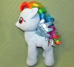 "Build A Bear My Little Pony RAINBOW DASH SHINY BLUE WINGS 16"" RAINBOW LI... - $17.82"